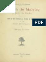 Charles Baussan - Joseph de Maistre et l`Idée de l`Ordre