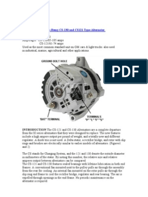 Service Manual Delco-Remy CS-130 | Voltage | Force