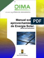 Manual Sobre Aprovechamiento de Energia Solar
