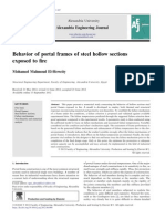 Behavior of portal frames of steel hollow sections exposed to fire