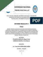 Informe Modular IV