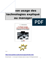 BI Piloter Bon Usage Des Technologies Expliqué Au Manager But