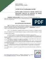Lei Municipal n° 587-2001