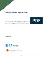 Pumping System Audit Standard