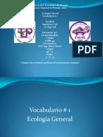 vocabulario ecologia 1