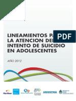 2012 10 31 Lineamientos Atencion Intento Suicidio
