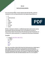 MATLAB PROGRAMMING (FLOW CONTROL)