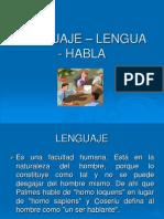 Lenguaje Lengua - Habla