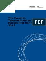 The Swedish Telecommunications Market First Half Year 2012