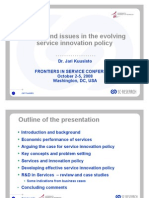 Service Innovation Policy Trends and Issues