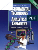 Handbook of Instrumental Techniques for Analytical CHemistry Fran Asettle