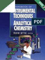 Handbook of Instrumental Techniques for Analytical CHemistry Fran Asettle