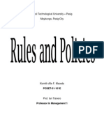 SAMPLE COMPANY RULES AND POLICIES
