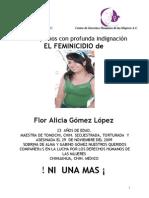 ! NI  UNA MAS ¡ Esquela Flor Alicia Gomez Lopez