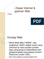 Materi i II Prinsip Dasar Internet Pemrograman Web