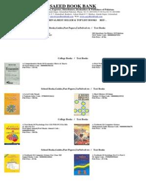 Text Books List1   Islamabad   Pakistan