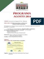 Programa Agosto 2014