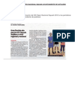 Noticias de Prensa Open Nacional Squash Ayuntamiento de Astillero
