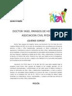 Doctor Yaso, Payasos de Hospital, A.C. - A.C. RYZA