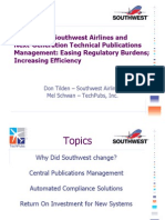 Southwest and TechPubs Low Cost Airline Congress Presentation