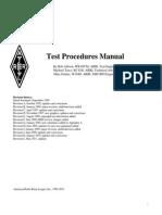 Radio Test Procedure Manual