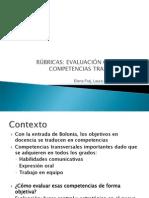Rubricas. Evaluacin Objetiva de Competencias.fraj,Lucia & Pedraja
