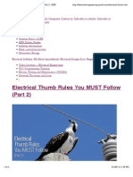 """Preview of """"Electrical Thumb Rules You MUST Follow (Part 2) 