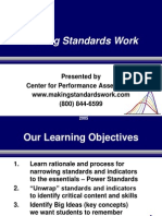 Designing Making Standards Work - Reeves
