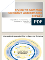 Overview to Common Formative Assessments for WMS Revised 9-9-09.Ppt