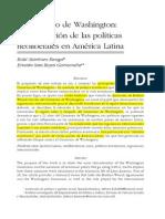 04 El CW Instauración de Las Políticas Neoliberales en AL