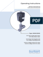 Burkert Angle Seat- Globe Valve Maintenance Manual-English