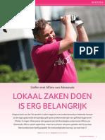 Bollenstreek IntoBusiness golfinterview met Alfons van Abswoude