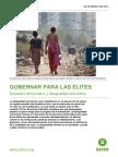 Gobernar Para Las Elites Informe Anual de Oxfam 2014 Sobre Los Estragos de La Desigualda en El Mundo