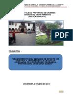 Pip Mejoramiento Del Servicio de Ornato Publico Distrito de Urubamba