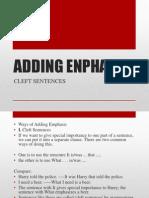 Adding Enphasis