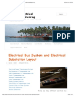 Electrical Bus System and Electrical Substation Layout | Electrical Engineering