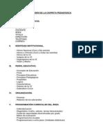 Documentos en Orden Para La Carpeta Pedagógica