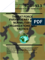 Paramilitary and Nonmilitary Organization and Tactics