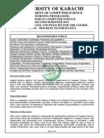 MCS2014 M DiscreteMathematics CourseOutline