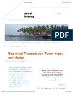 Electrical Transmission Tower types and design | Electrical Engineering.pdf