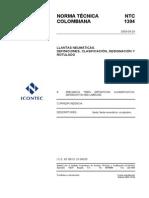 Ntc 1304 Llantas Neumáticas. Definiciones, Clasificaciones, Designación y Rotulado 20030924
