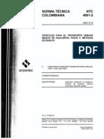 Ntc 4901-2 Vehículos Para El Transporte Urbano Masivo de Pasajeros- Parte 2 Métodos de Ensayo- 20091216