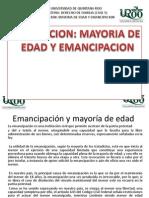 Exposicion Mayoria de Edad y Emancipacion Familiar Completya