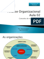 Análise Organizacional Aula 02 - 14 Agosto 2013