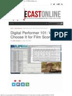 Digital Performer 101_ Why Choose It for Film Scoring