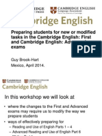 Preparing Students for New or Modified Tasks in the Cambridge English Exams