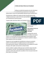 4 Maneras Fáciles de Hacer Dinero Con Facebook