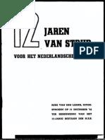 12 jaren van strijd voor het Nederlandsche volk