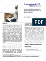 Determinacao Do Carbono Da Biomassa Microbiana Do Solo (Bms-c)