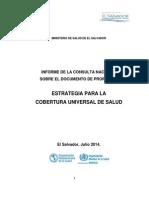 Informe Consulta Nacional Estrategia CUS